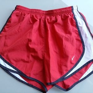 Nike Tempo Dri-Fit Running Shorts Red/White Sz S